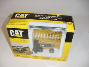 1/64 CAT Lexion 485 Farm Show Edition Combine 1999 W/Corn & Grain Head NIB!