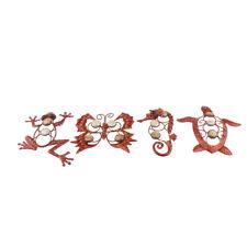 Gecko Butterfly Sea Horse Tortoise Wall Art Ornament - Metal Wall Hanging