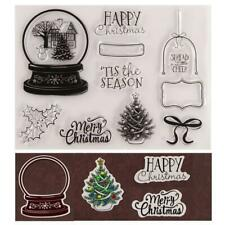 Merry Christmas Silicone Clear Seal Stamp DIY Scrapbooking Photo Album Embossing