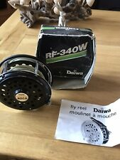 Vintage Daiwa Rf340w Fly Reel And Line And Box