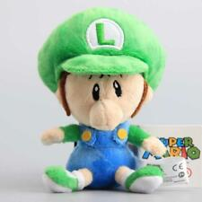 New Super Mario Bros Run Baby Luigi Green Plush Toy Stuffed Animal Doll 6""