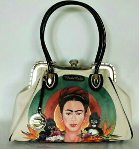 FRIDA KAHLO Large  Handbag with Monkeys  and Rhinestones Authentic Licensed
