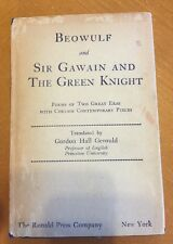 Gerould, Gordon Hall BEOWULF AND SIR GAWAIN AND THE GREEN KNIGHT  1st Edition