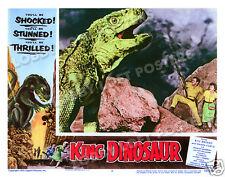 KING DINOSAUR LOBBY SCENE CARD # 7 POSTER 1955 WILLIAM BRYANT WANDA CURTIS