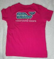 Vineyard Vines Womens Embroidered Back Whale Logo Crew-Neck T-Shirt pink Sz S