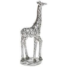 New Silver Leaf Giraffe Standing Statue Ornament Figurine 45630