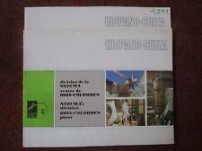 1971 PLAQUETTE SNECMA HISPANO-SUIZA BOIS COLOMBES SEMMB NUCLEAR TURBOCOMPRESSEUR