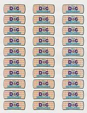 "30 Doc McStuffins Band Aid Labels / Stickers, 1"" x 2-5/8"""