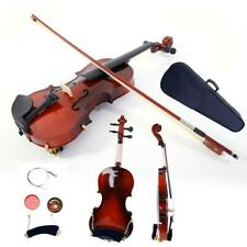 More details for 1/2 maple wood acoustic violin set + case + bow + rosin + strings tuner