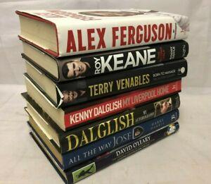 7x Football Manager Biography Books Dalglish Venables Keane Ferguson Jose