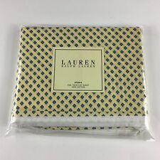 NEW Ralph Lauren Studio Foulard TWIN Flat Sheet Yellow Citron 1st Quality RARE