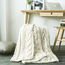 Thicken Knitted Thread Blanket Warm Winter Sofa Bed Throw Blankets Chunky