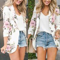 2019 new Women's Floral Slim Casual Blazer Suit Lady Work Jacket Coat Outerwear