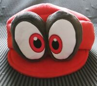 NEW Super Mario Odyssey Cappy Plush Hat Soft Cosplay Red Kids Cap Gift