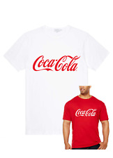 COCA COLA LOGO/SLOGAN T-Shirt/Top red/white Mens Ladies Children novelty