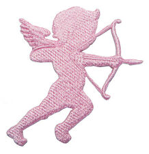 Cupid Pink Icon of Love Valentine's Day Embroidered Iron on Patch Free Shipping