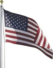 NEW VALLEY FORGE AFP20F 20 FOOT HEAVY DUTY ALUMINUM AMERICAN FLAG POLE SET