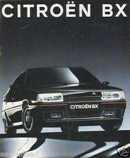 Auto Brochure - Citroen - BX - 16 19 TD TGS TZS Break GTI et al - 1991  (AB162)