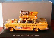 MERCEDES BENZ 220SB W111 BUSH BASH 1959 IXO 1/43 JAUNE YELLOW SPECIAL MODEL