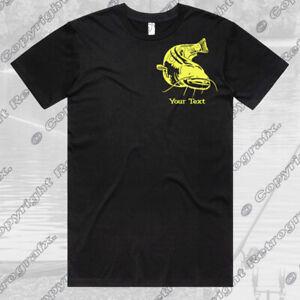 Personalised Catfishing Angling Fishing T-shirt Birthday Gift carp pike perch