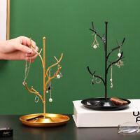 Eisen Tablett Schmuckhalter Display Stand Baum Halskette Ohrring Halter Rack Dek