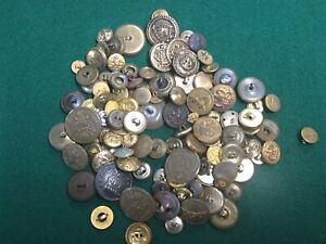 Vintage Metal Button Large Lot Military Fashion and More