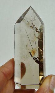 Natural Smoky Citrine Crystal with Rutile Polished Tower 50 grams Chakra