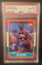 1986 Fleer Basketball JOE DUMARS #27 PSA 8 NM-MT RC Detroit (Xplor_Sports)