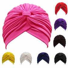 Women Lady Soft Cotton Beanie Cancer Chemo Hat Bow Knotted Turban Headwrap Cap