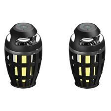 2 Lampara LED Llama con Altavoz Bluetooth Portatil BT4.2 Sonido Bajo y Superior