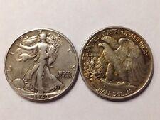 2 TWO 90% Silver Walking Liberty Half Dollars Junk Halves US Junk Coins Bullion