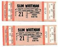 Slim Whitman Concert Ticket Set of 2 1980 Tampa Orange