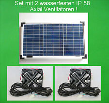 20 W wasserfester Solarlüfter Solar Axial Lüfter Solarventilator Lüftersystem