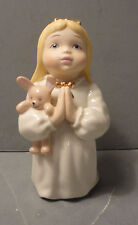 Lenox Barefoot Blessings Bedtime Prayers Girl with Blonde Hair Teddy Box Coa