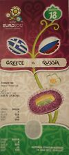 TICKET UEFA EURO 2012 Greece Grecia-Russia RUSSIA # MATCH 18