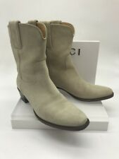 Gucci Cream Suede Western Boots SZ 36.5 EU 6 US Women's 171084