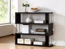 Baxton Studio Barnes 3-Shelf Modern Bookcase, Cappuccino
