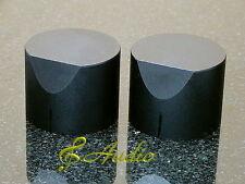2 pcs 40mmD x 31mmL Black Color Solid Aluminum Knobs for Audio Equipment DIY