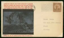 MayfairStamps US Ghost Ship of the Great Lakes Ship Wisconsin Cover wwm3281