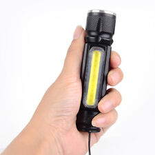 Portable Zoomable 3800LM Bright XML-T6 COB LED USB Rechargeable Flashlight Torch