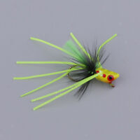 Artificial Bass Fly Assortment Fishing Flies Hook Bass Bug Popper Flies
