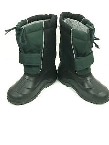 Lacrosse Rubber Insulated Wool Lined Snow Boots Black/Hunter Boys Size 3 New