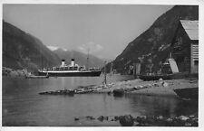 AK Norge Hardangerfjord Schiff Echt Foto Postkarte gel. Schiffspost 1937