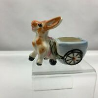 Vintage Donkey Pulling Cart Planter - Blur Cart -  Japan
