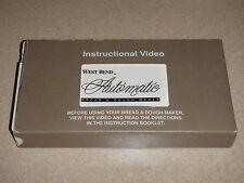 West Bend Bread Machine Parts VHS Instructional Video 41040X (BMPF)