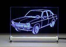 LED-Leuchtschild graviert ist  Opel Kadett C Limousine   AutoGravur limo