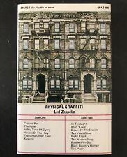 LED ZEPPELIN 'Physical Graffiti' Rare Cassette Tape Album
