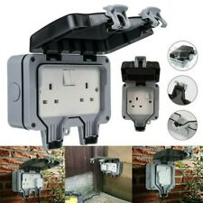 Single/Double Outdoor Plug Waterproof Protecter Socket Electrical Switched Box