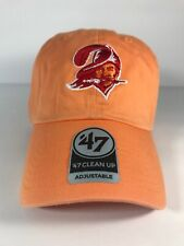 NFL Retro Tampa Bay Buccaneers '47 Brand Orange Clean Up Adjustable Dad Hat Cap
