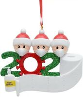 Christmas Tree Ornament 2020 Quarantine Family Home Xmas Decoration UK